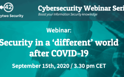 Webinar Security in a 'different' world after COVID-19