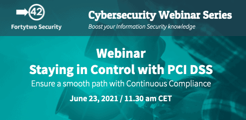 Webinar Staying in Control with PCI DSS with Continuous Compliance